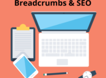 laptop, watch, phone and notepad for Breadcrumbs and seo