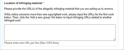 DCMA Plagiarism Complaint Filing Step 3