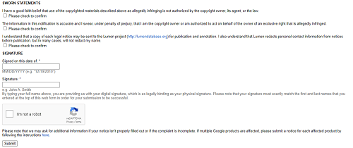 DCMA Plagiarism Complaint Filing Step 4