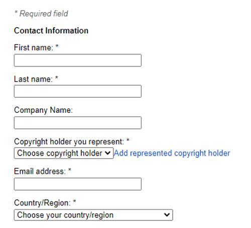 DCMA Plagiarism Complaint Filing