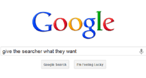 Google Search page