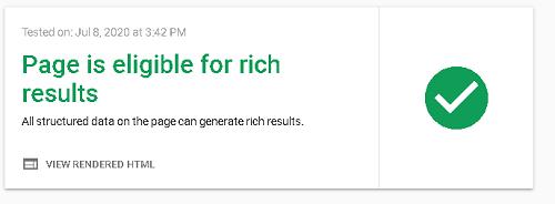 Google Rich results test tool  en ligne