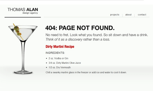 Creative 404 pages for SEO